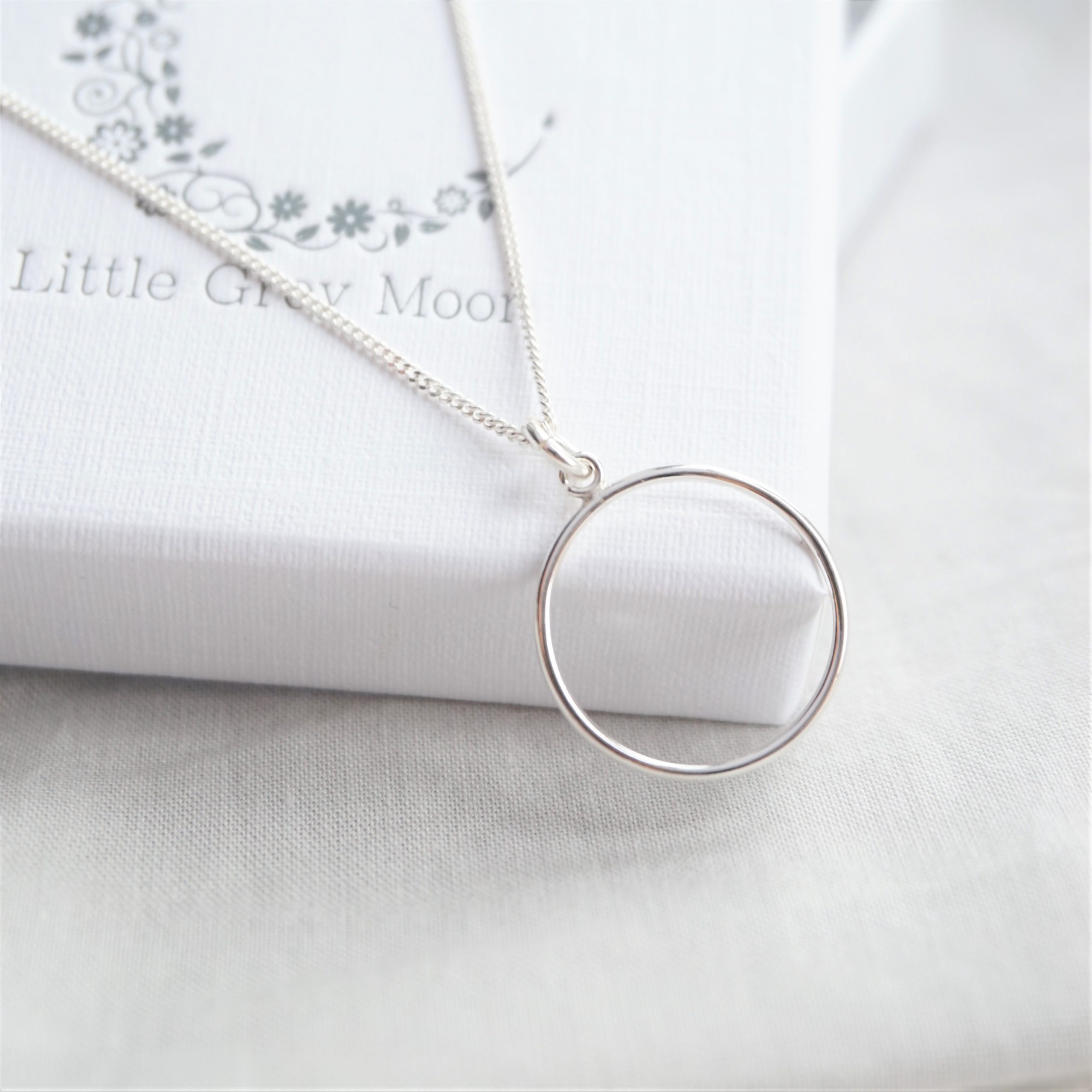sterling silver necklace with new karma circle charm