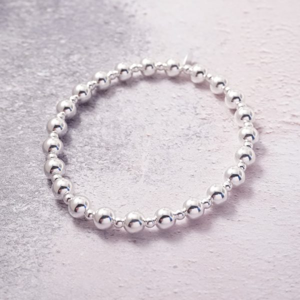 Sterling Silver Chunky Stretch Stack Bracelet