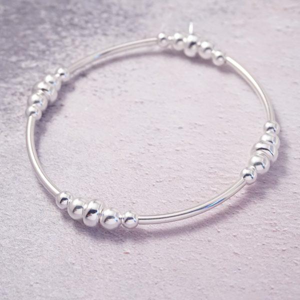Sterling Silver Chunky Stretch Noodle Bracelet