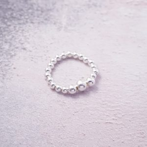 Sterling Silver Plain Stretch Ring