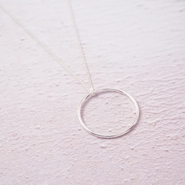 Sterling Silver Necklace with Karma Circle Charm