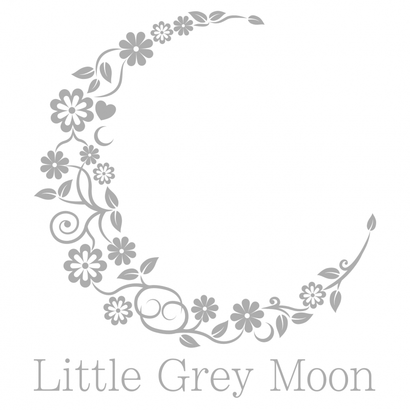 Little Grey Moon Logo & Wordmark with white background