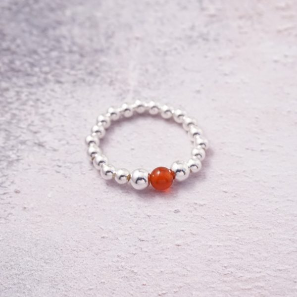 sterling silver and carnelian ring