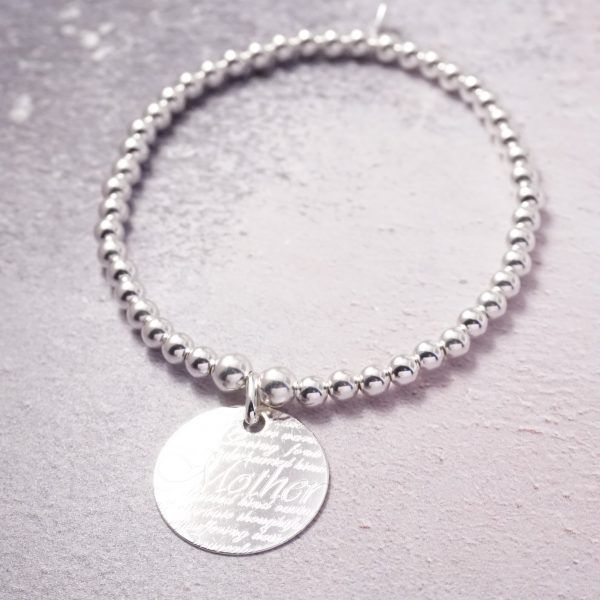 sterling silver mother bracelet
