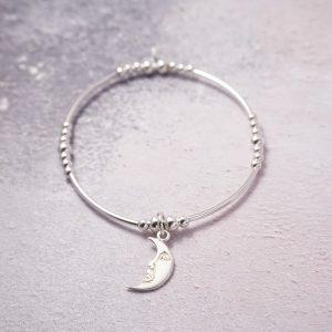sterling silver moon noodle bracelet