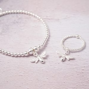 sterling silver bumble bee set