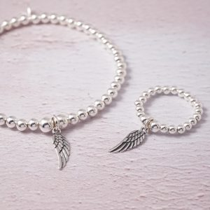 sterling silver angel wing set