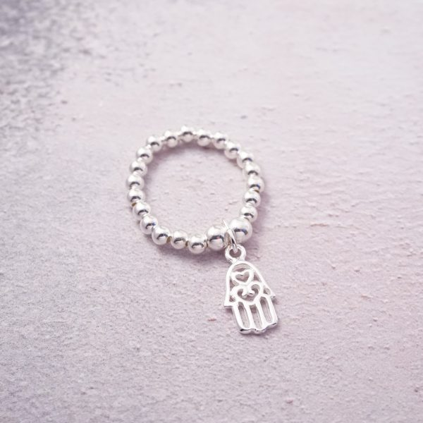 sterling silver hamsa hand ring