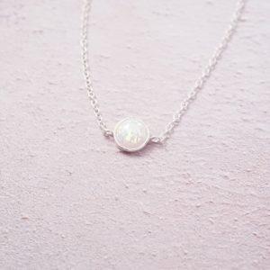 sterling silver opal chain bracelet