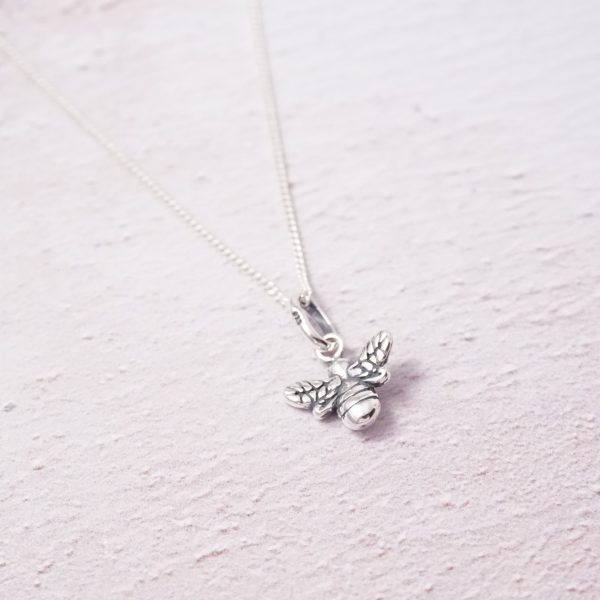 sterling silver bumble bee necklace