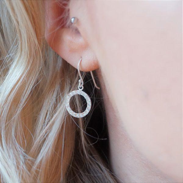 Sterling silver crystal hook earrings