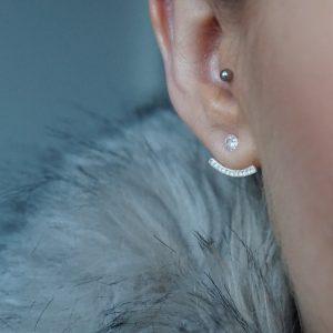 sterling silver ear jacket