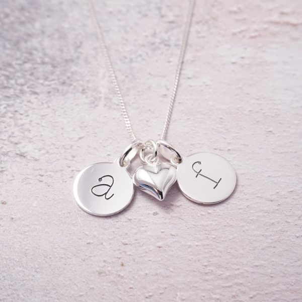 Sterling Silver necklace with initial charms