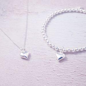 Sterling Silver heart set