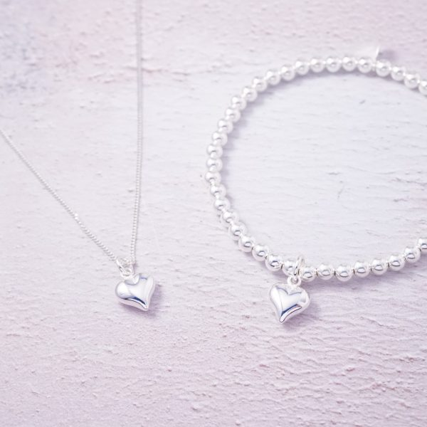 Sterling Silver heart set