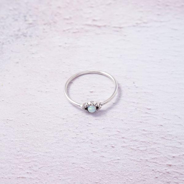 Sterling Silver Evil Eye Ring