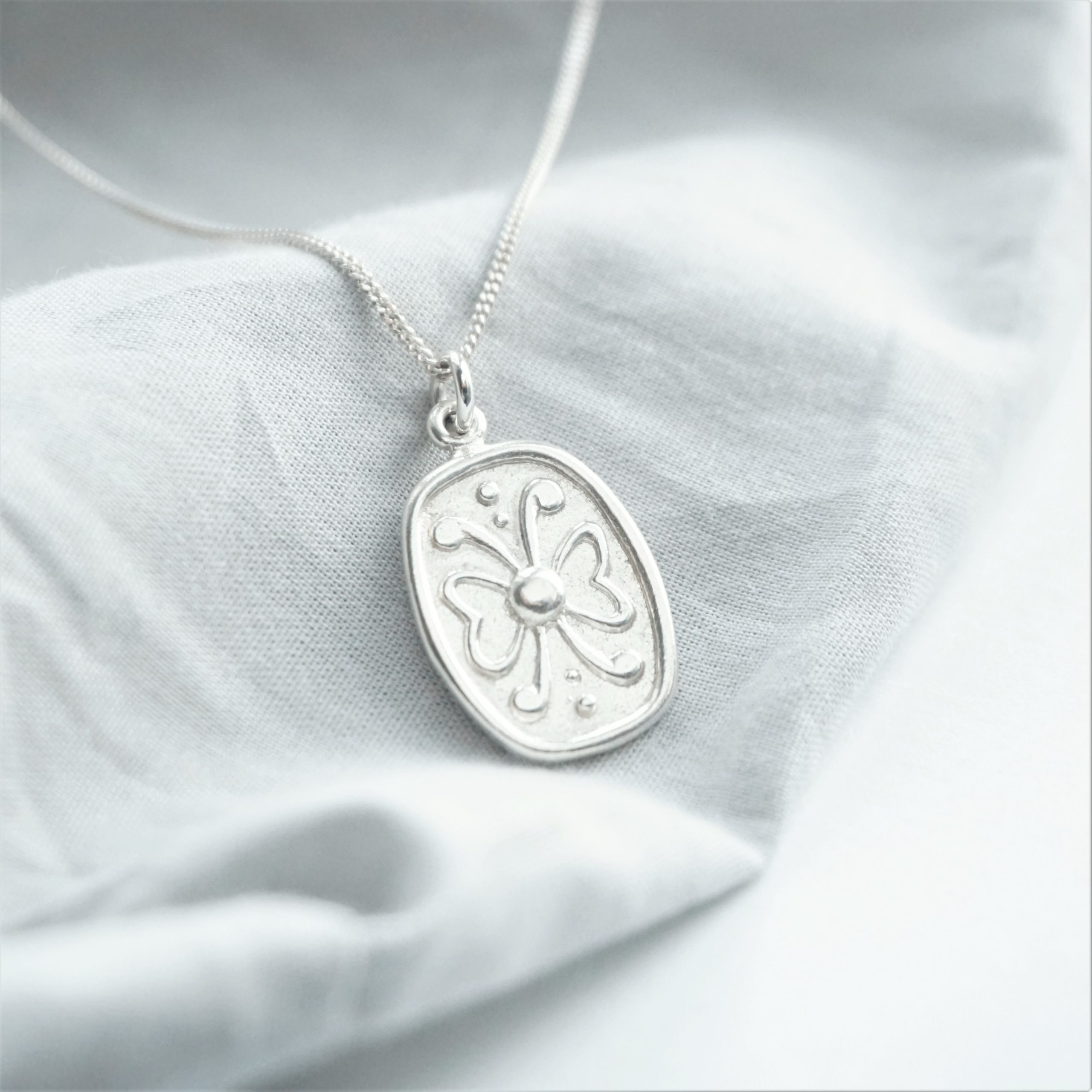 sterling silver necklace with butterfly charm