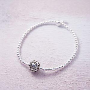 sterling silver yin yang stretch bracelet