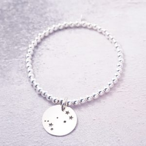 sterling silver constellation stretch bracelet