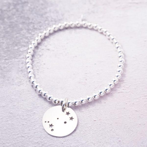 sterling silver constellation stretch bracelet