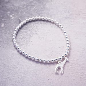 sterling silver stretch giraffe bracelet