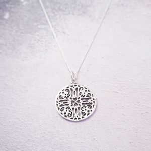 Sterling silver antique necklace