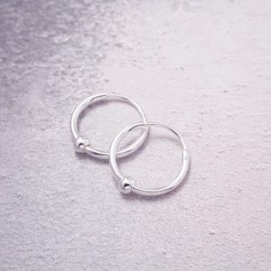 sterling silver creole hoop earrings