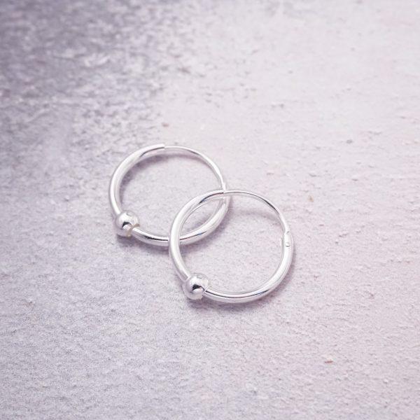 sterling silver creole hoop earrings