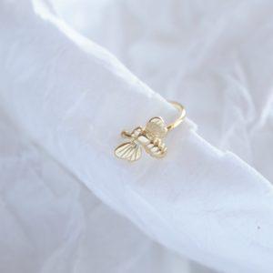 gold bee ear cuff
