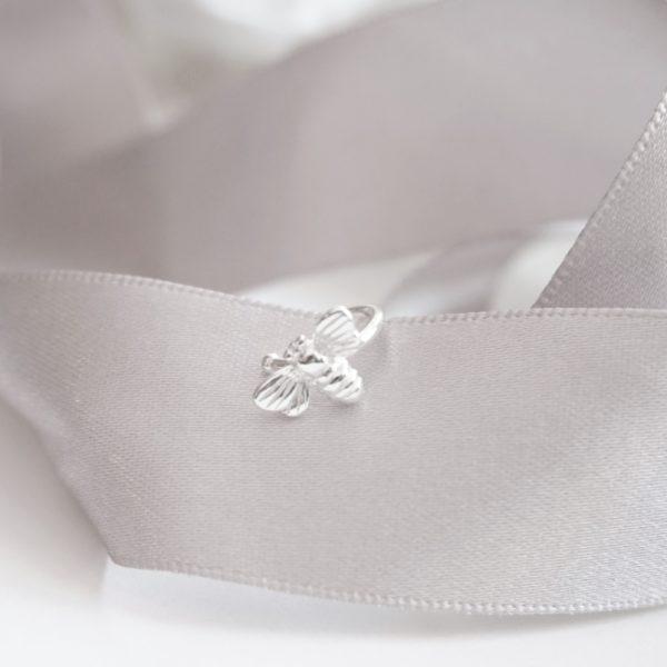 sterling silver bee ear cuff