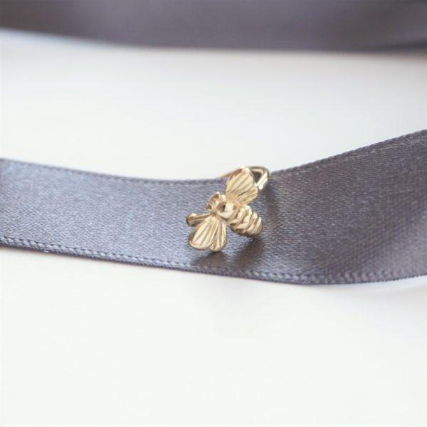 gold bumble bee cuff earring