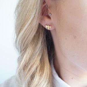 gold bumble bee stud earrings